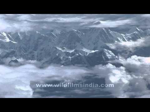 Aerial views of the Sikkim Himalaya
