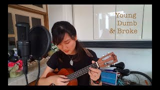 Young Dumb & Broke Cover - Khalid (ukulele + lyrics)