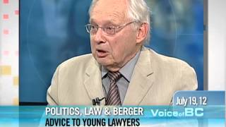 Tom Berger - Advice To Young Lawyers