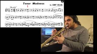 Tenor madness (theme) Sonny Rollins - How to play