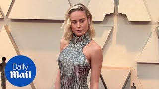 Brie Larson turns heads in chainmail gown at 2019 Oscars