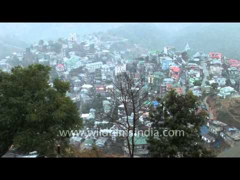 Drizzle dribble in Aizawl City