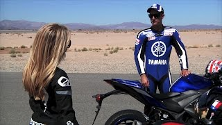 Yamaha YZF-R3 introduced by Colin & Alyssia Edwards, 2015 official