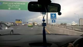 Bangkok City to Suvarnabhumi Airport By Car, Thailand