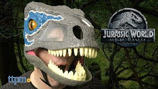 Jurassic World Chomp 'n Roar Mask Velociraptor Blue from Mattel