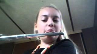Sophia playing funkytown on flute!!