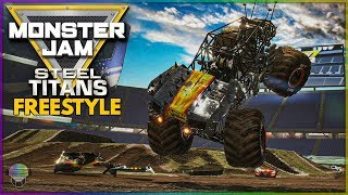 10 Truck Indy Freestyle! | Monster Jam Steel Titans