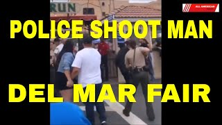 GRAPHIC VIDEO: POLICE SHOOTING AT DEL MAR FAIR GROUNDS
