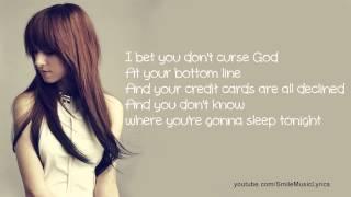 Christina Grimmie - I Bet You Don't Curse God Lyrics