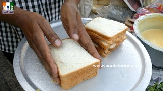 BREAD BAJJI | BREAD CUTLET MAKING | 2017 STREET FOODS