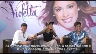Violetta En Vivo Brasil  Conferencia de prensa con Tini, Diego y Jorge