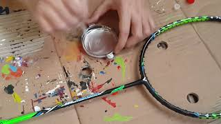 Cara memperbaiki raket badminton yang retak ( how to repair a cracked badminton racket )