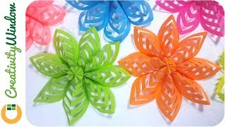 How To Make This Colored Paper Floral Decoration