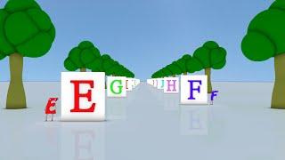 Learn ABC rhyme │ Falling Blocks