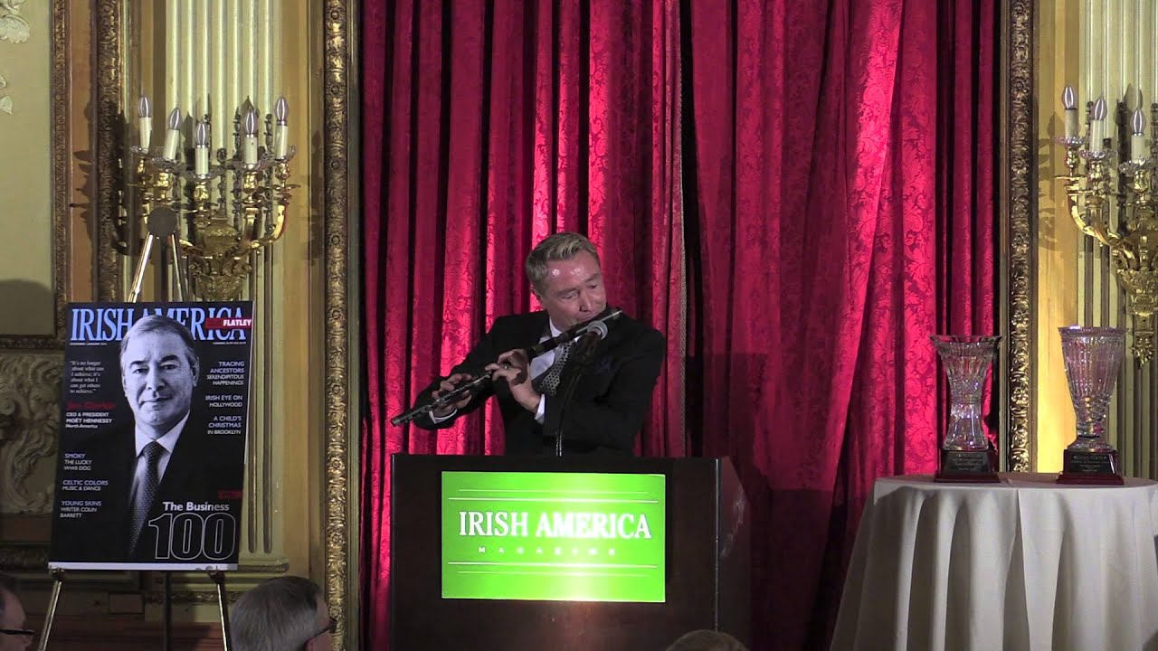 Michael Flatley's Encore Flute Performance at the Irish America Business 100