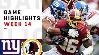 Giants vs. Redskins Week 14 Highlights   NFL 2018
