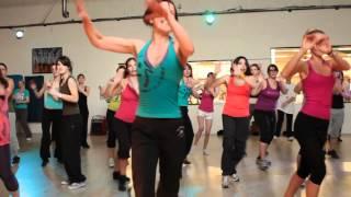 gaelle : recording for Flashmob zumba : balada boa