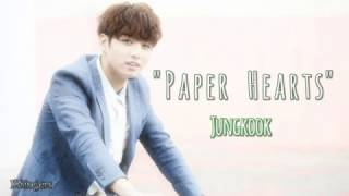 Jungkook (BTS) - Paper Hearts (COVER) | SUB ENGLISH + ESPAÑOL