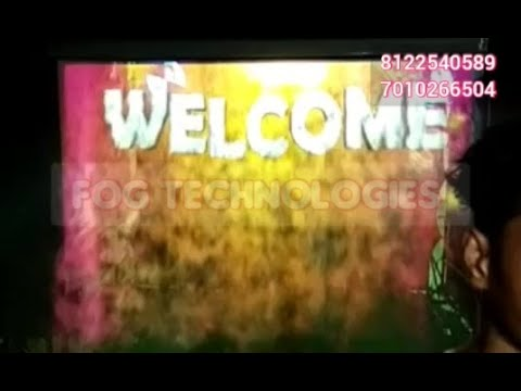 #Fog Screen #Entry Welcome Digital wedding Marriage Reception Event #Bangalore +91 81225 40589