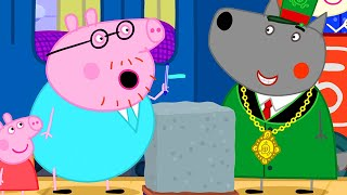 Peppa Pig Official Channel   Peppa Pig Wants to Know About Testing Concrete
