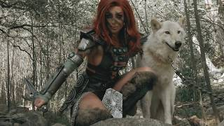 PLAYING WITH REAL WOLVES! (SKYRIM COSPLAY)