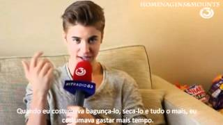Justin Bieber being Interviewed by fans on @ HITRADIO 3 - Abril 25th (Subtitled To Portuguese)