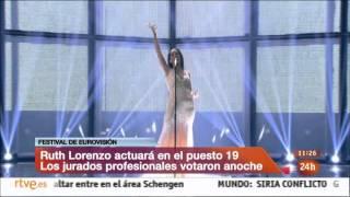 Eurovision Song Contest 2014 - Jury rehearsal - Spain - Ruth Lorenzo - Dancing in the rain