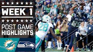 Dolphins vs. Seahawks | NFL Week 1 Game Highlights