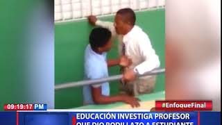 Educación investiga profesor que dio rodillazo a estudiante