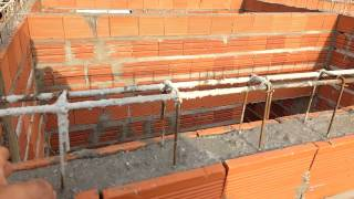 Detalhamento das vigas superior de uma construção.