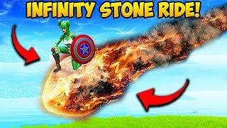 rare riding a infinity stone meteor fortnite funny moments - fortnite infinity stones what they do