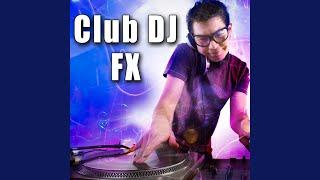 DJ Scratch Effect on Vinyl Turntable