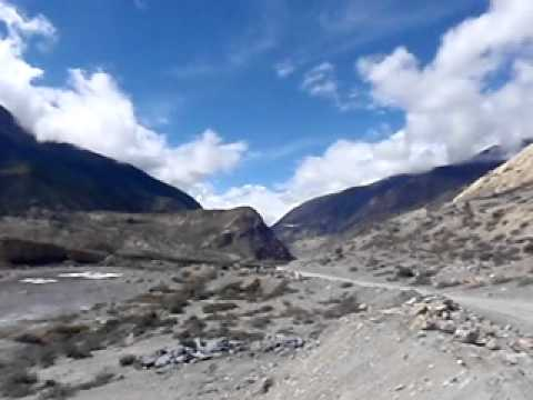Plane take off from Jomsom Airport