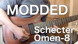 Schecter Omen-8 Modification | DiMarzio Ionizer 8 Tosin Abasi | Coil Split | Lee Allan