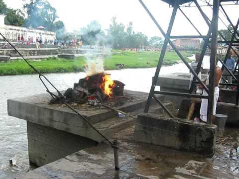 Burning Bodies at Pashupati Kathmandu Nepal