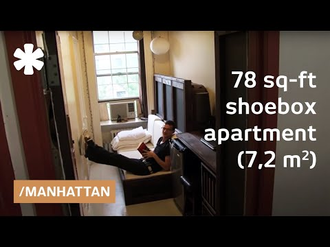 Manhattan shoebox apartment: a 78-square-foot mini studio ...