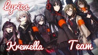 【Nightcore】→ Team || Krewella ✘ Lyrics