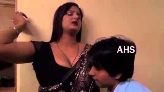 Hot aunty seducing a young boy width=