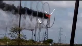 Windmill Fire Live Video Palladam Tamilnadu 2016