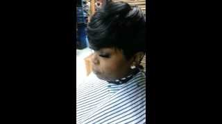 She likes it short.quick weaves