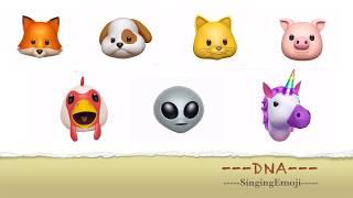 Emoji Singing DNA -- BTS '방탄소년단'  [Animoji Karaoke]
