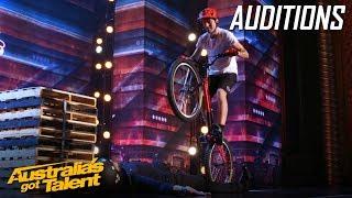 Biker Puts a Judges' Life on the Line | Auditions | Australia's Got Talent