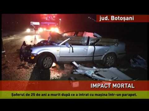 Accident mortal pe o șosea din Botoșani