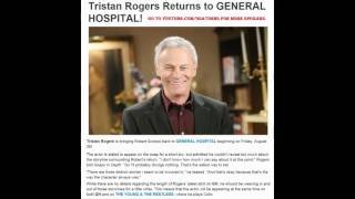 TRISTAN ROGERS RETURNS TO GH 8-26-16 Robert Scorpio General Hospital Promo Preview 8-16-16 8-17-16