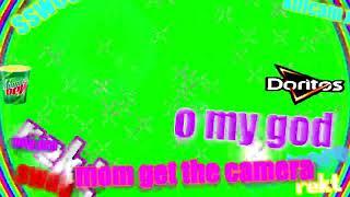 Green screen O my god Doritos