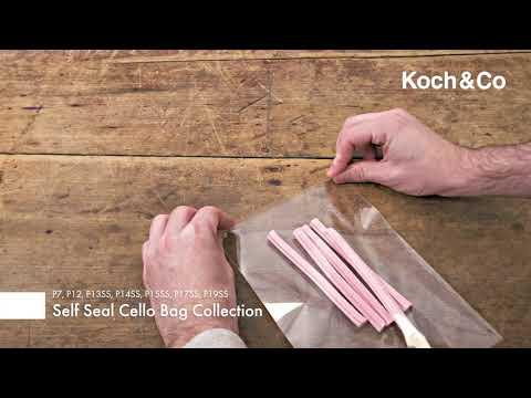 Cello Bag Self Seal 48mic Pack 100 Clear (10.5x22cmH) DL