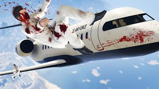 FLY THE PRIVATE JETS INTO THE SNIPERS! (GTA 5 Funny Moments)