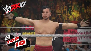 Top 10 movimientos desde la segunda cuerda en WWE 2K17