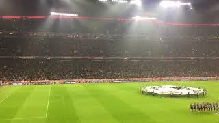 Beşiktaş - Bayern Münih maç öncesi şampiyonlar ligi müziği Allianz Arena, Münih, Almanya...
