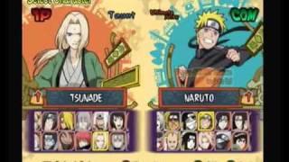 Naruto Ultimate Ninja 5 All characters